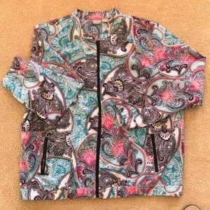 Chicos Zenergy paisley jacket